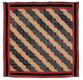 Amish log cabin quilt early 20th c