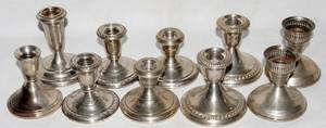 060278 AMERICAN STERLING SILVER CANDLESTICKS