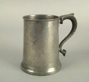 English pewter mug late 18th c