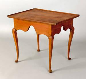 New England Queen Anne maple tea table ca 1765