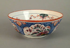 Delft polychrome decorated bowl mid 18th c