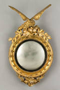Paine Furniture Company giltwood convex mirror late 19th c