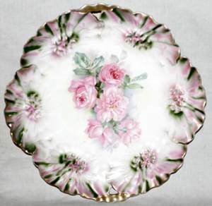 071331 RS PRUSSIA PORCELAIN CAKE PLATE C1900
