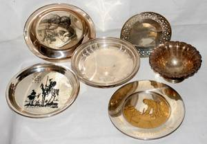 060283 AMERICAN STERLING BOWLS  COLLECTORS PLATES