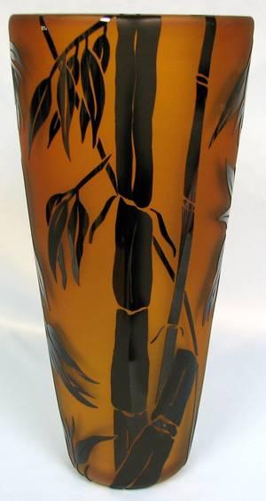 063525 CORREIA ART GLASS BAMBOO VASE 2005 H145