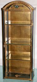 063096 TOLE DISPLAY CABINET W GLASS SIDES H40