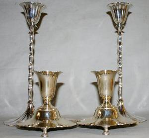091353 AMERICAN STERLING SILVER CANDLESTICKS