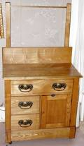 090314 OAK WASHSTAND C1900 H54 W30 D16
