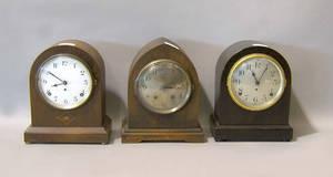 Three Seth Thomas mantle clocks