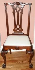 091399 CHIPPENDALE STYLE MAHOGANY SIDE CHAIR