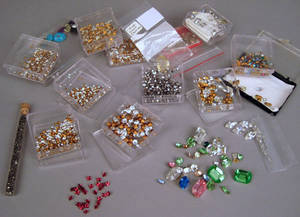 Large group of vintage jewelry parts and pieces