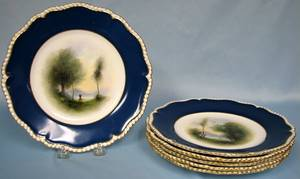 082329 SET OF 6 ROYAL WORCESTER PORCELAIN PLATES
