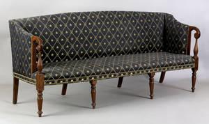 Portsmouth New Hampshire Federal mahogany sofa ca 1810