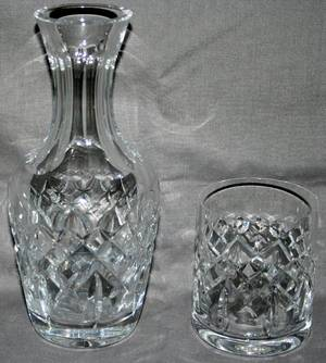 050401 WATERFORD CUT CRYSTAL CARAFE  TUMBLER C1980