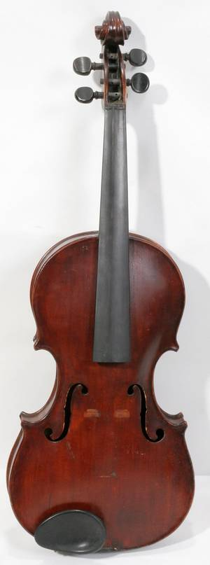 081520 GERMAN TIGER MAPLE VIOLIN EARLY 20TH C