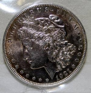 070374 US MORGAN SILVER 1 DOLLAR COIN 1921P