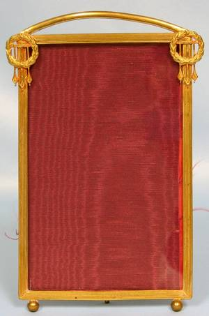 063274 FRENCH GILT BRASS PHOTO FRAME C1890 H7