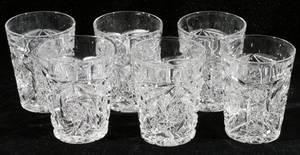 052437 CUT GLASS TUMBLERS SET OF SIX H39