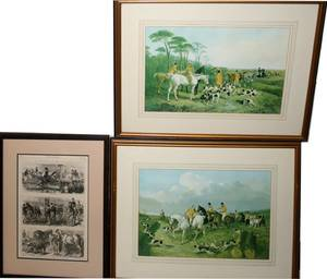 050459 HORACE HARRELL LITHOGRAPH  FOX HUNT PRINTS