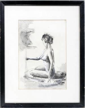 050454 HEINZ CHINNOW INK WASH  GOUACHE DRAWING