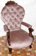 090511 VICTORIAN LOUIS XV STYLE WALNUT PARLOR CHAIR