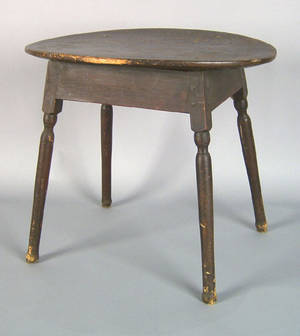 Pine and maple tavern table 18th c