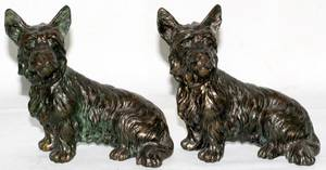 061520 SPELTER FIGURES OF SCOTTIE DOGS H5 L7