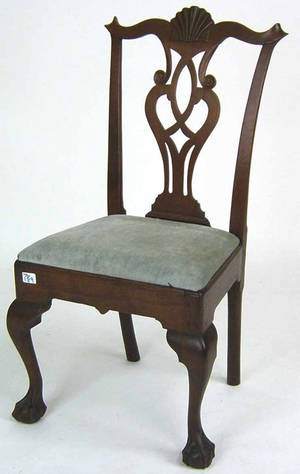 Philadelphia Chippendale walnut dining chair