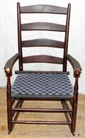 051525 SHAKER STYLE ROCKING CHAIR 19TH C