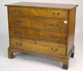 New England Chippendale birch chest of drawers