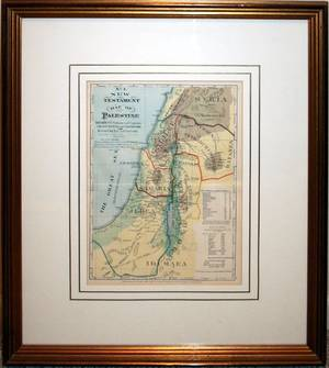 061547 HH HARDESTY LITHOGRAPH MAP OF PALESTINE