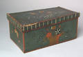 European painted beech dresser box early 19th c