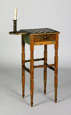 Diminutive painted game table 19th c