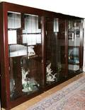 063826 CHERRY WOOD THREESECTION DISPLAY CABINET