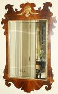 091051 CHIPPENDALE STYLE MAHOGANY MIRROR C1900