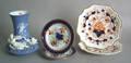Four Gaudy ironstone plates