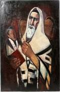 082044 ISRAEL ABRAMOFSKY OIL ON CANVAS RABBI