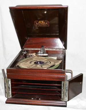071026 VICTOR TALKING MACHINE MAHOGANY VICTROLA