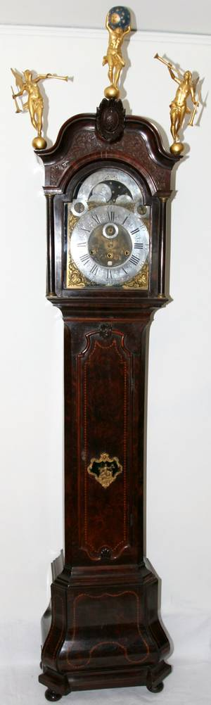 062016 18TH C DUTCH MUSICAL GRANDFATHER CLOCK