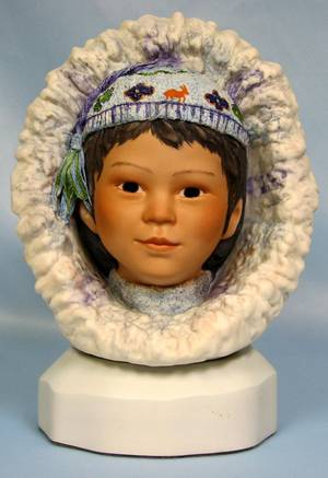 063439 CYBIS BISQUE BUST OF ESKIMO CHILD NANOOK