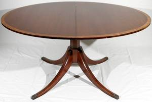 052023 ENGLISH MAHOGANY DINING TABLE C1920