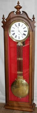 042021 VICTORIAN MAHOGANY GRANDMOTHER CLOCK