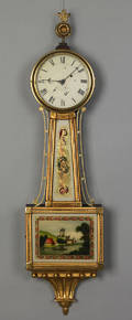 Boston Federal mahogany banjo clock ca 1815