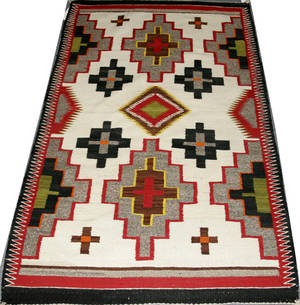 111191 NAVAJO CARPET BY TWO GREY HILLS 5 4 X 3 4