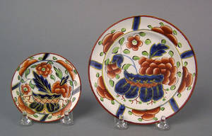 Two Gaudy Dutch toddy plates 19th c