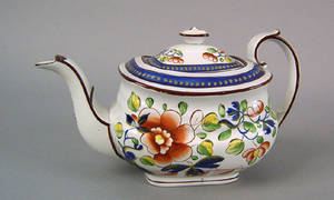 Gaudy Dutch teapot 19th c