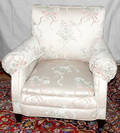 091055 UPHOLSTERED LAWSON STYLE MAHOGANY CHAIR