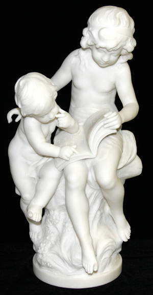 12092 AFTER AUGUSTE MOREAU MARBLE SCULPTURE GIRL