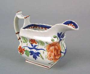 Gaudy Dutch creamer 19th c