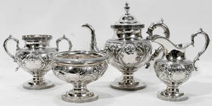 122139 TIFFANY  CO ENGLISH STERLING SILVER TEA SET